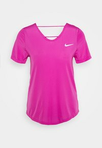 Nike Performance - BREATHE - Print T-shirt - fire pink/reflective silver