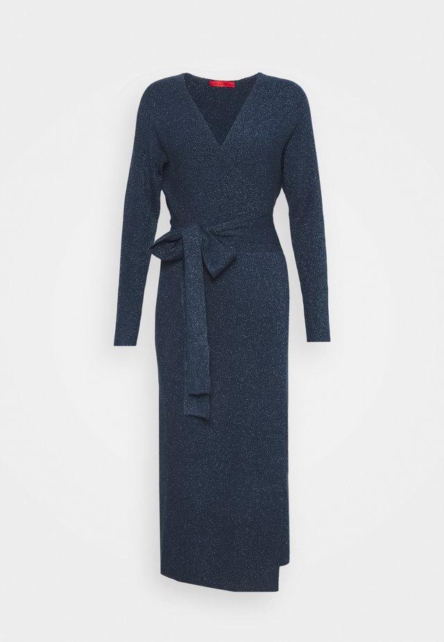PANCA - Stickad klänning - navy blue