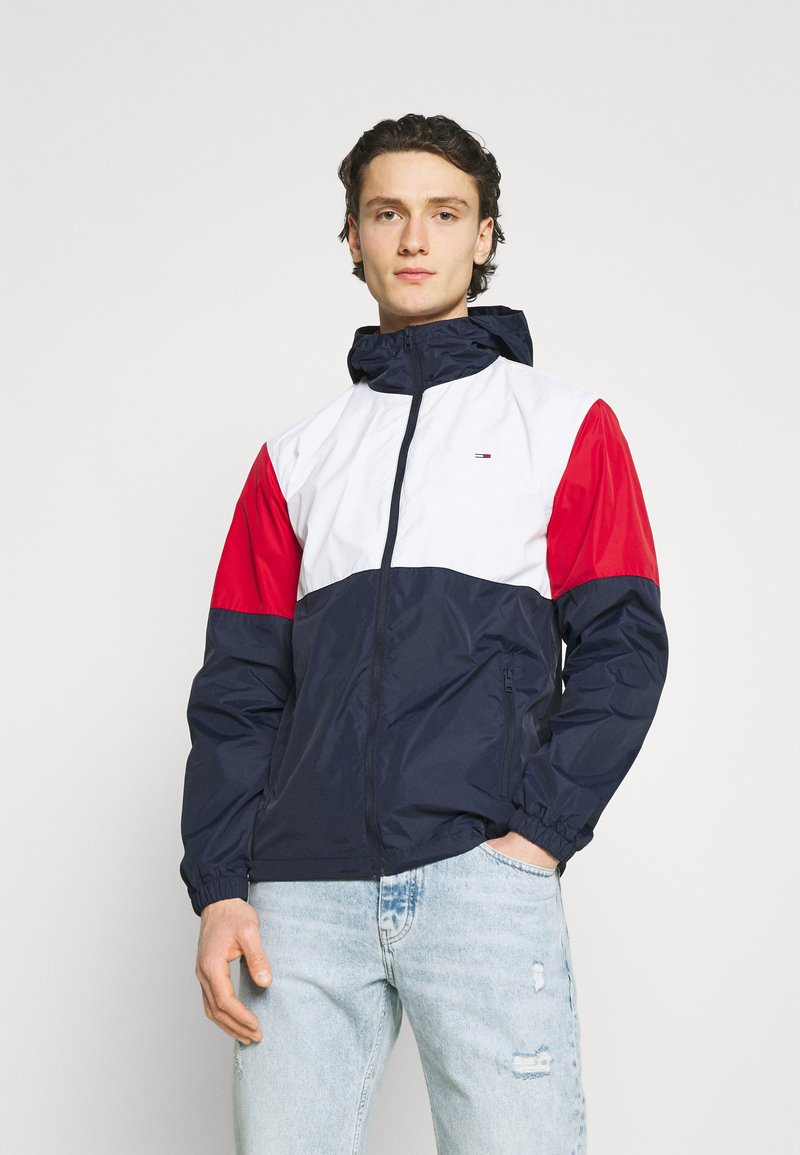Tommy Jeans - COLORBLOCK UNISEX - Summer jacket - white/multi