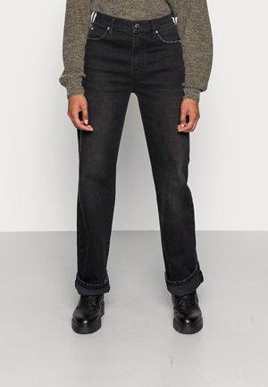 MIA STRAIGHT WASH NEW YORK BLACK - Straight leg -farkut - black