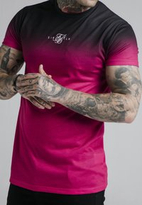 SIKSILK - Print T-shirt - black & pink - 2