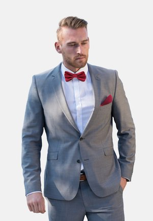 2 PIECE SET - Pocket square - weinrot