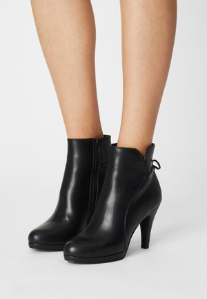 COMFORT - High heeled ankle boots - black