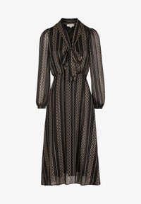 Morgan - MIDI A-LINE WITH CHAIN PRINT - Day dress - black - 2