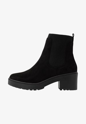 ALYSSA CHUNKY PULL ON CHELSEA BOOT - Platform ankle boots - black