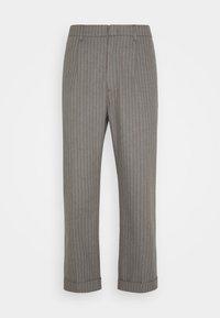 Brixton - TROUSER R PANT - Kalhoty - heather grey/dark brick - 0