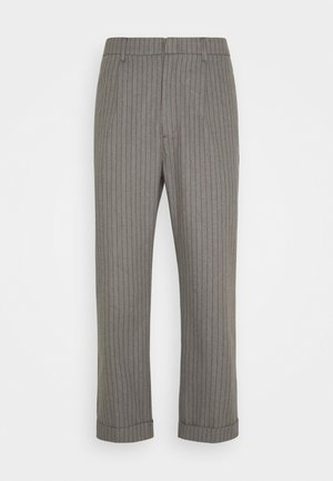 TROUSER R PANT - Pantalon classique - heather grey/dark brick