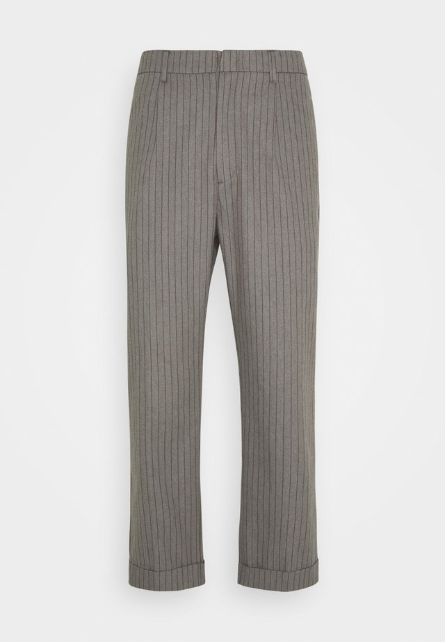 TROUSER R PANT - Kalhoty - heather grey/dark brick