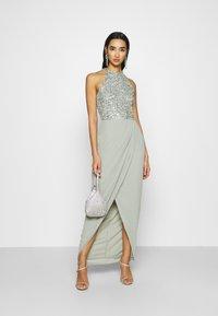 Lace & Beads - AVALON WRAP MAXI - Společenské šaty - sage - 1
