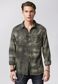 Tigha - TIE-DYE HAKU - Shirt - vintage ocean grey - 0