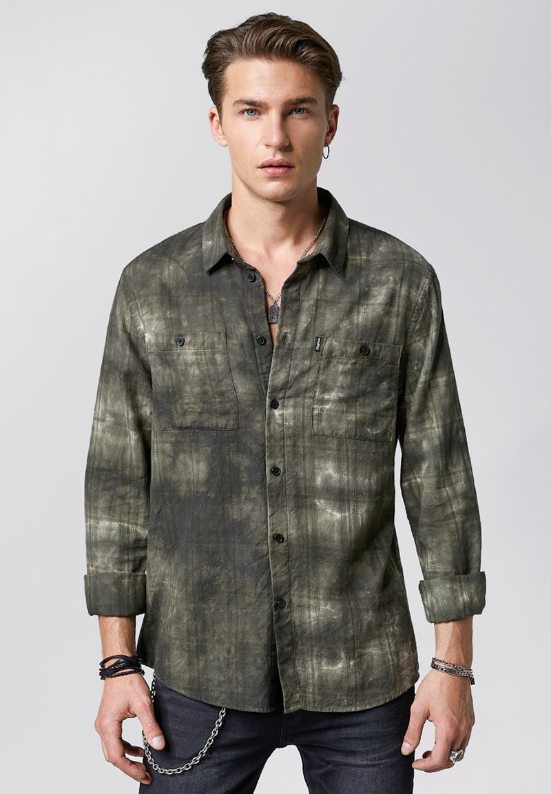 Tigha - TIE-DYE HAKU - Shirt - vintage ocean grey