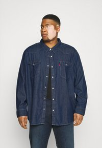 Levi's® Plus - BIG BARSTOW WESTERN - Overhemd - red cast rinse marbled t2 h2 19 - 0