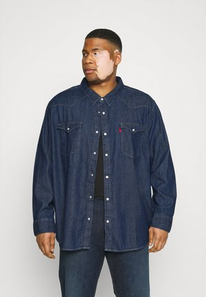 BIG BARSTOW WESTERN - Shirt - red cast rinse marbled t2 h2 19