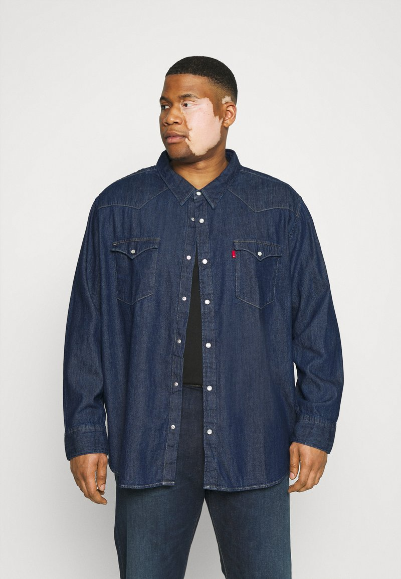 Levi's® Plus - BIG BARSTOW WESTERN - Overhemd - red cast rinse marbled t2 h2 19