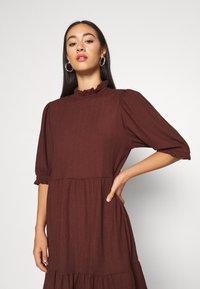 ONLY - ONLZILLE HIGHNECK DRESS - Shirt dress - bitter chocolate - 4