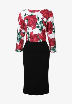 Shift dress - weiß rot