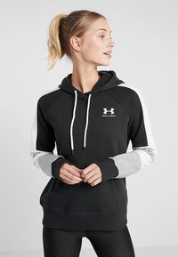 Under Armour - RIVAL LOGO HOODIE NOVELTY - Hoodie - black/onyx white - 0