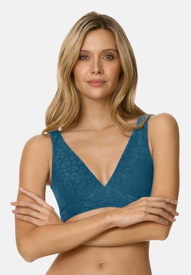 REVERSIBLE  - Bikini-Top - blue