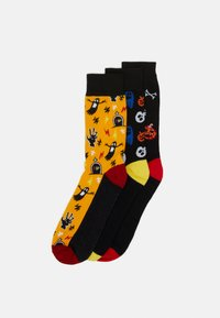 Jack & Jones - JACHALLOWEEN SOCK GIFTBOX 3 PACK - Chaussettes - black/blazing yellow - 0