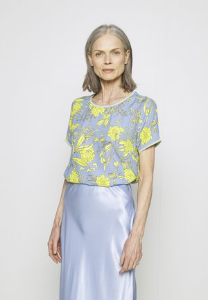 Blouse - yellow/blue