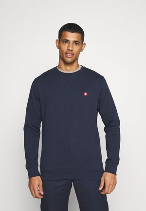 JJEBADGE CREW NECK  - Bluza - navy blazer/brick red