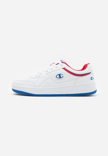 LOW CUT SHOE REBOUND - Basketball shoes - white/royal blue/red