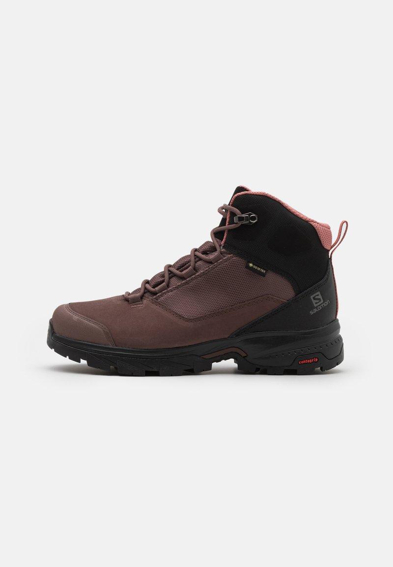 Salomon - OUTWARD GTX - Hiking shoes - peppercorn/black/brick dust
