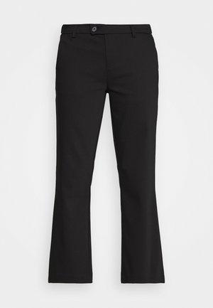ALICE CROPPED FLARE PANT - Kalhoty - black