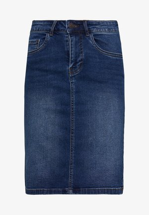 VMSEVEN MR PENCIL SKIRT MIX - Kynähame - medium blue denim