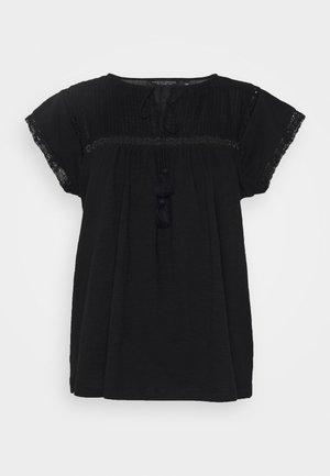 VICTORIANA - T-shirt z nadrukiem - black