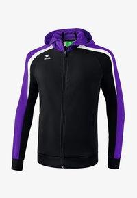 Erima - LIGA 2.0 TRAININGSKAPUZENJACKE KINDER - Trainingsjacke - schwarz / violet - 0