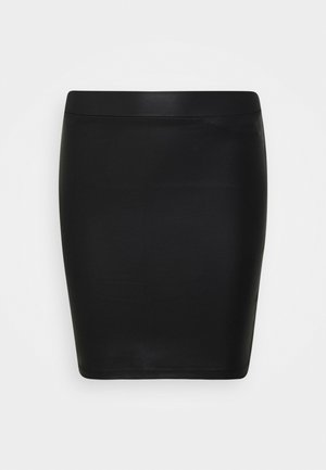 PCNEW SHINY SKIRT - Blyantnederdel / pencil skirts - black