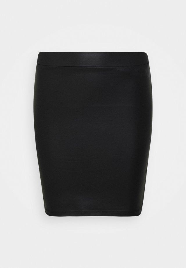 PCNEW SHINY SKIRT - Kokerrok - black