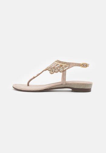 T-bar sandals - biscuit