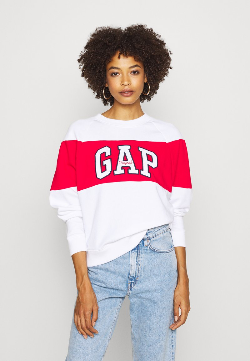 GAP - ORIGINAL CREW - Bluza - white