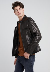 Schott Made in USA - CAFE RACER - Giacca di pelle - black - 3