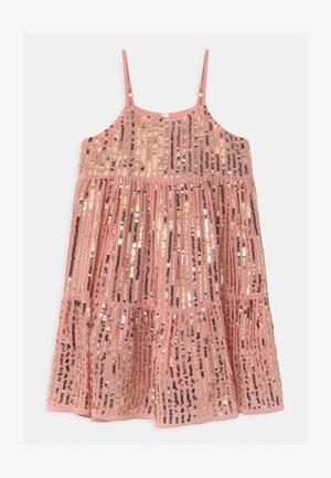 BIANCA - Koktejlové šaty/ šaty na párty - dusty pink/gold sparkle