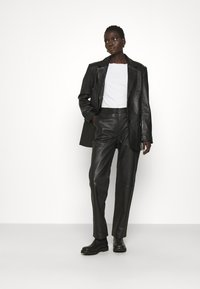 2nd Day - TIMEA - Leather trousers - jet black - 1