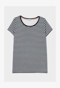 C&A - Print T-shirt - dark blue / white - 3
