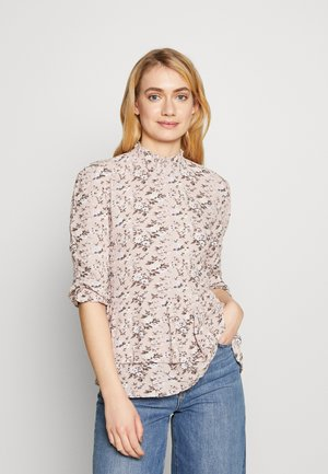 SHIRRED HIGH NECK - Bluse - lilac