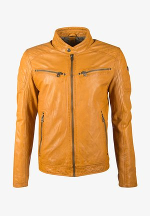 DERRY - Leren jas - yellow