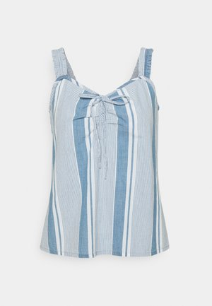 VMAKELA FLOUN SINGLET - Top - light blue denim/white