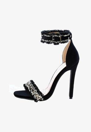 VERCELLI - High heeled sandals - black