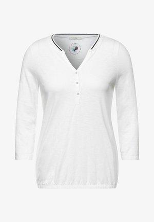 MIT RIPPKRAGEN - Maglietta a manica lunga - weiß