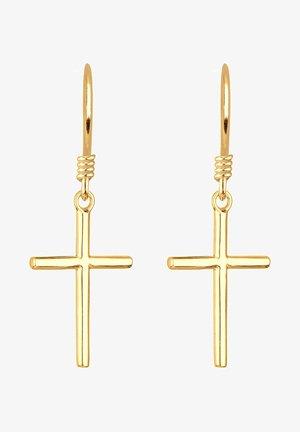 KREUZ - Earrings - gold-coloured