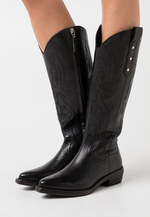 FLERON - Cowboy/biker ankle boot - black