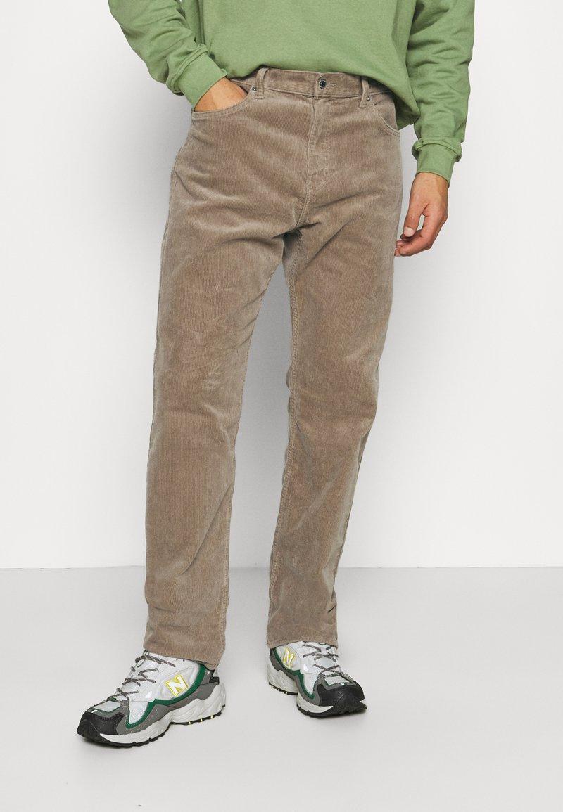 Weekday - SPACE TROUSERS - Trousers - dark beige