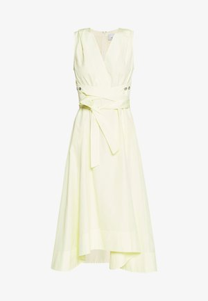 VNECK DRESS UTILITY TIE - Day dress - pale yellow