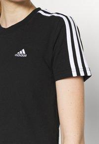 adidas Performance - T-shirts med print - black/white - 5