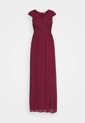 CAP SLEEVE MAXI GOWN - Společenské šaty - burgundy